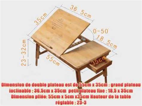 table pliante pour ordinateur portable table de lit pliable pour pc portable notebook plateaux en bambou fbt04 n