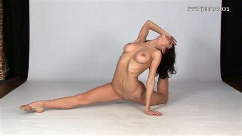 Russian Gymnast Violeta Laczkowa Demonstrates Big Boobs