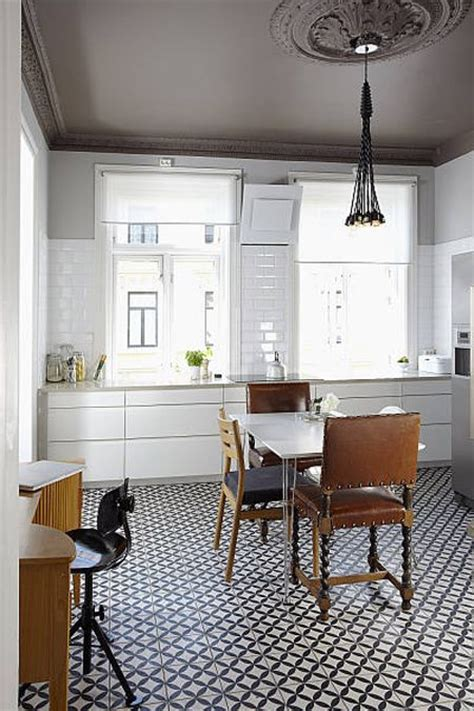 cement tile kitchen floor galley kitchen