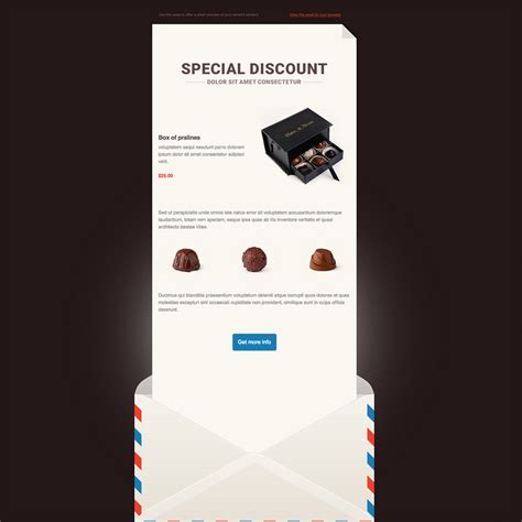 smooth chocolate  responsive email newsletter template