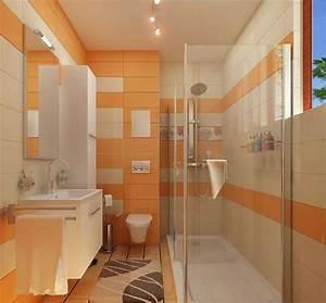 Salle De Bain Orange : l 39 am nagement petite salle de bains n 39 est plus un probl me inspirez vous avec nos id es en photos ~ Preciouscoupons.com Idées de Décoration