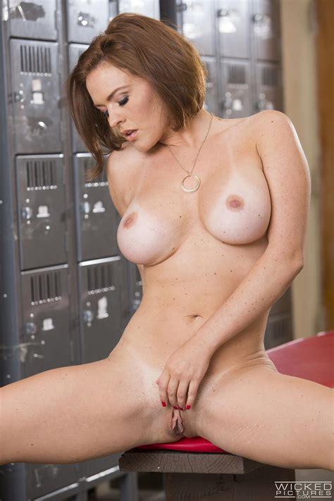 Redhead Babe Got Cum On Her Tits Photos Krissy Lynn