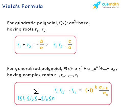 Vieta's Formula- Learn Vieta's Formula For Polynomials
