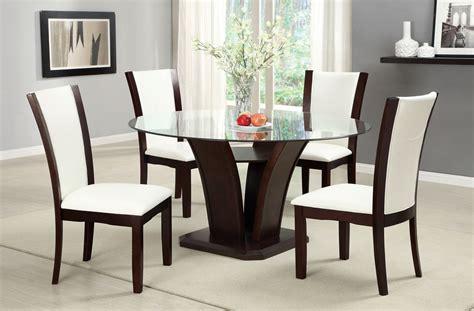 manhattan ii contemporary dark cherry casual dining set