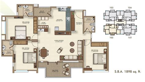 3 Bhk Home Design : 3 Bhk Apartments In Bharuch