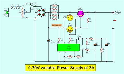 Variable Power Supply Circuit Diagram