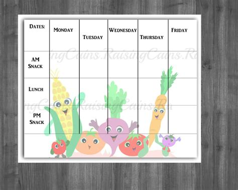 Daycare Food Menu Template by Weekly Menu Template 20 Free Psd Eps Format