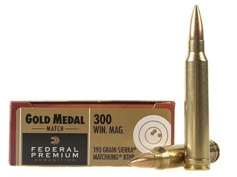 Federal Premium Gold Medal Ammo 300 Winchester Mag 190