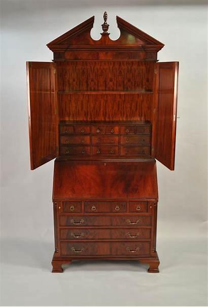 Secretary Desk Colonial Antique Mahogany Secretaries Office