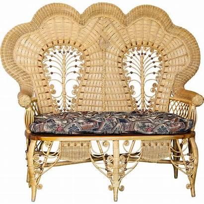 Victorian Wicker Furniture Stick Ball Loveseat Rattan