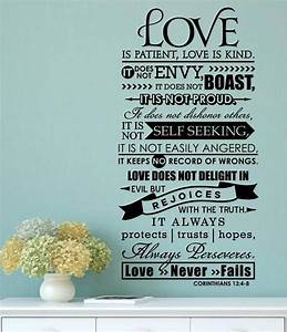 Bible verse love is patient kind vinyl decal wall sticker