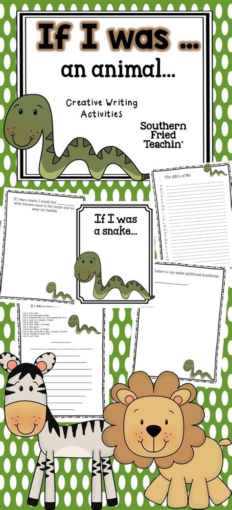 animals creative writing activities writing prompts