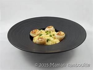 Assiette à Risotto : risotto aux saint jacques l 39 huile de truffe maman tambouille ~ Teatrodelosmanantiales.com Idées de Décoration