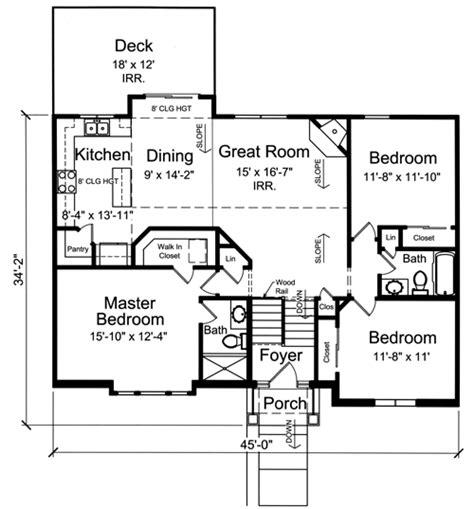 Split Foyer Floor Plans by House Plans With Bi Level Split Foyer By Studer