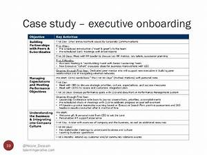 case study format for hr With executive onboarding template