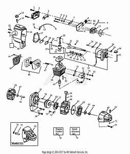 Poulan Pp111 Gas Trimmer  111 Gas Trimmer Parts Diagram