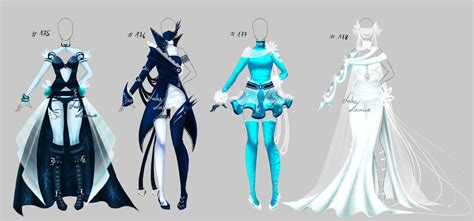 Outfit design - 175 - 178 - Winter set - closed by LotusLumino on DeviantArt
