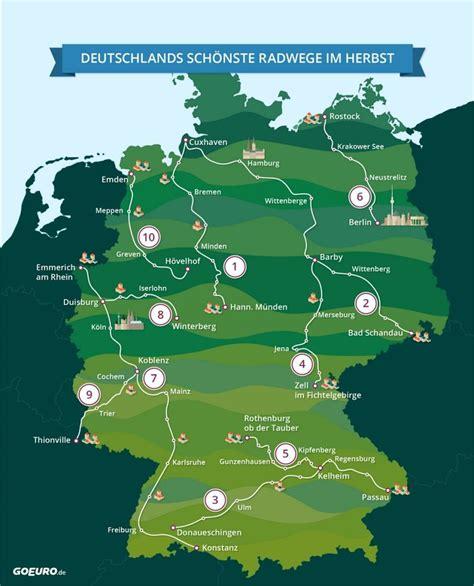 urlaub mit dem auto in deutschland karte radwege in deutschland radtour in 2019