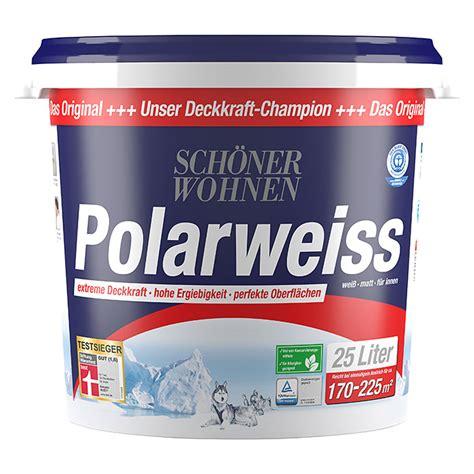 Polarweiss Schöner Wohnen sch 246 ner wohnen polarwei 223 wei 223 25 l matt 5861 if