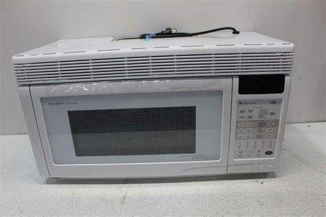 sharp r 1871 1 1 cubic foot 850 watt the range convection microwave white 74000610163 ebay