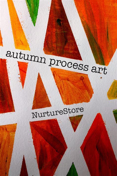 tape resist process art project  autumn nurturestore