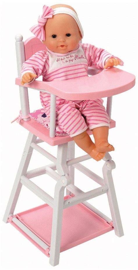 chaise haute corolle corolle chaise haute pour poupée doudouplanet