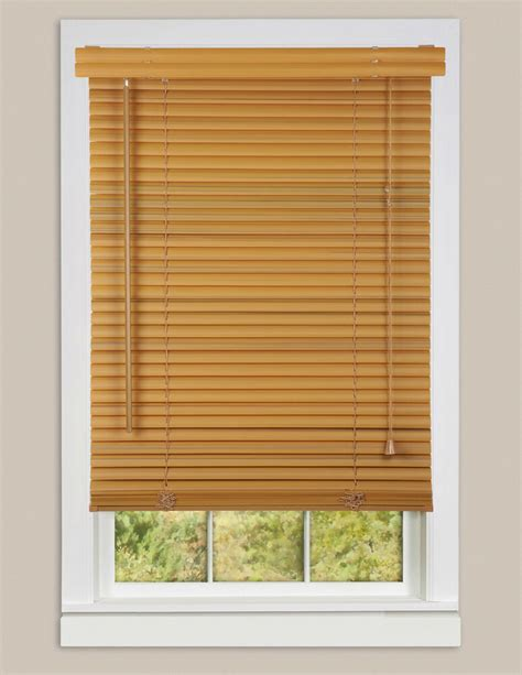Windows And Blinds by Window Blinds Mini Blinds 1 Quot Slats Woodtone Venetian Vinyl