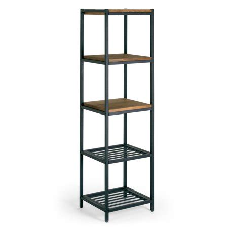 Etagere Wood L by Ailis 57 Quot Brown Pine Wood Metal Frame Etagere Bookcase