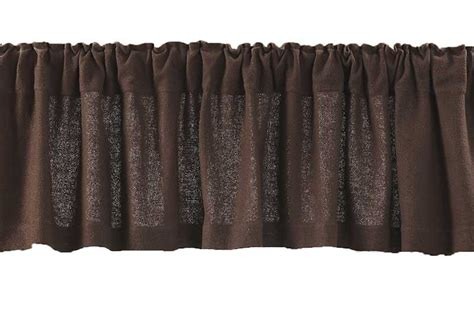 chocolate brown burlap valance by the