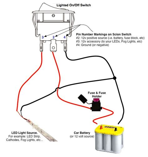 Off Switch Led Rocker Wiring Diagrams Oznium