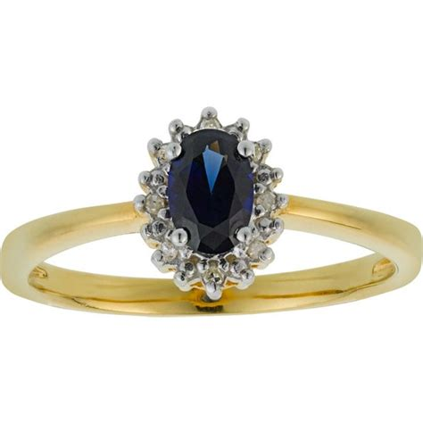buy 18ct gold plated created sapphire diamond ring at argos co uk your online shop for