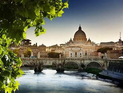 Vatican Town Bridge Cathedral Leaves Wallpapers Desktop