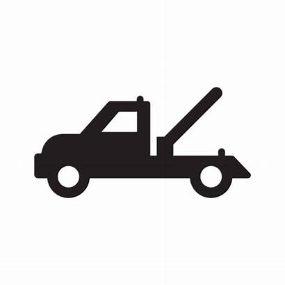 Tow Truck Silhouette Library