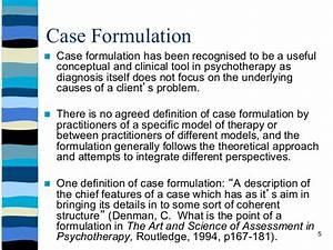 Dr funke39s formulation workshop implementing theory into for Case formulation template