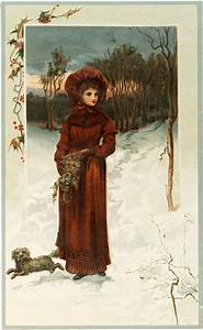 Fairy Garden Designs Winter Lady With Dog Image The Graphics Fairy