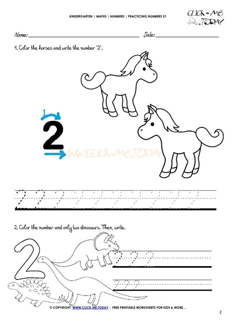 tracing numbers worksheets number 2