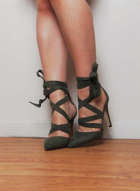 koko khaki suede heels fushia belle
