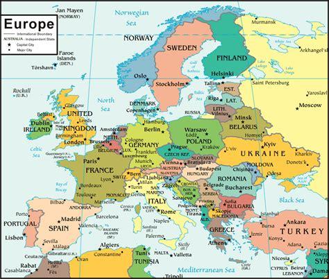 europe map  satellite image