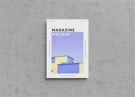 Photorealistic magazine mockup from graphicburger. Free A4 Magazine Title Mockup PSD - Good Mockups
