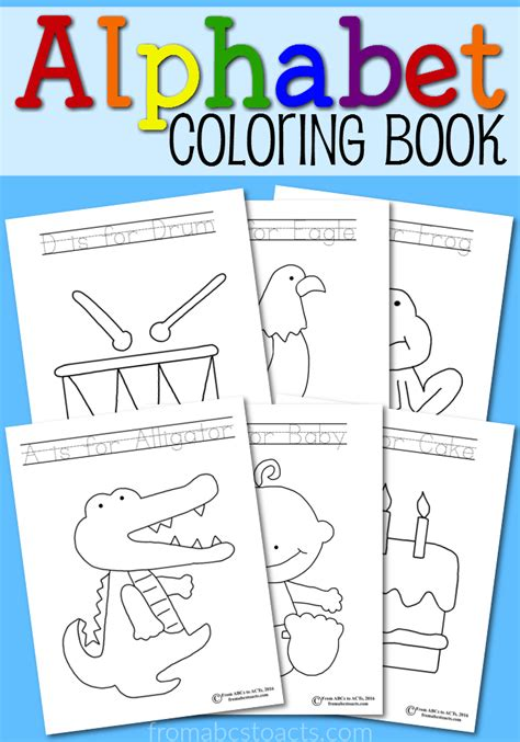 printable alphabet coloring book from abcs to acts 914 | Alphabet Coloring Book for Preschoolers