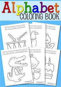 printable alphabet coloring book from abcs to acts With alphabet letter books