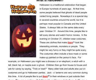 What Is Halloween? Reading & Grammar Practice