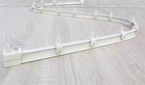 Rail Rideau Plafond Extra Plat : mini rail de rideaux flexible la main finition blanc ~ Dailycaller-alerts.com Idées de Décoration