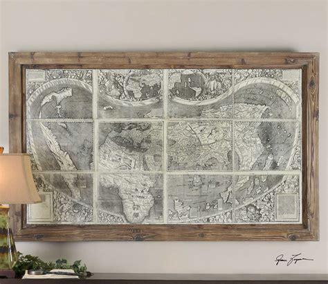 Uttermost Wall by Uttermost Treasure Map Framed Wall Ut34025