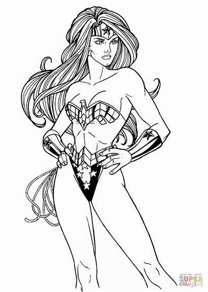 Wonder Coloring Woman Pages Dc Comics Deviantart