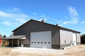 earlville il ag storage shop building lester With 60x80 pole barn