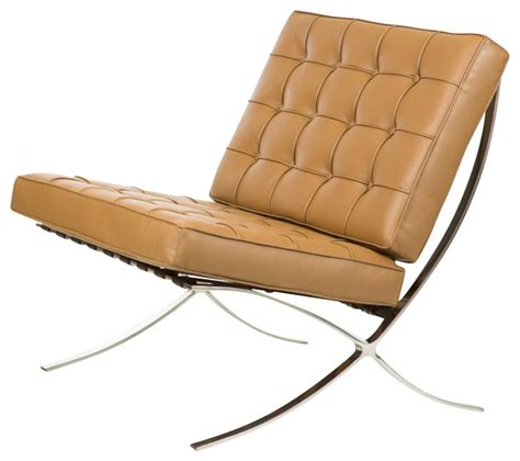 barcelona chair reproduction italian leather brown