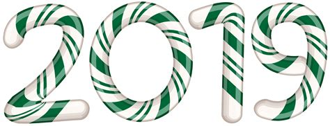 2019 Candy Cane Green Png Clip Art Image