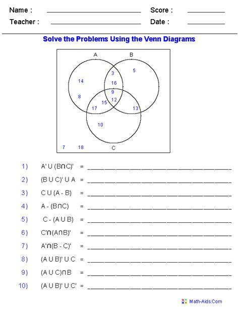 venn diagram worksheet pdf worksheets for all