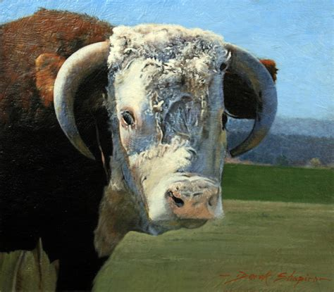 portrait   hereford bull commissioned painting